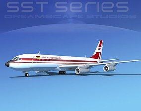 3D Boeing 707-320 SS Air Mauritius