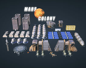 3D asset Mars Colony KitBash Pack