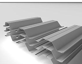 Metal Profile - Steel Pile 004 3D