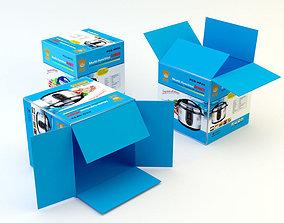 3D asset Cardboard Box 4