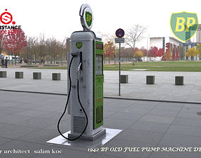 3D model VR / AR ready OLD BP GASOLINE PUMP DESIGN