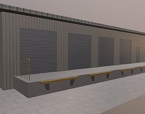 Warehouse 3D model game-ready