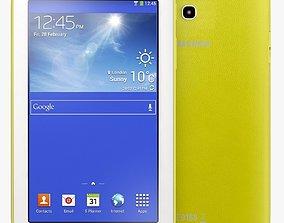 3D Samsung Galaxy Tab 3 Lite 7 0 3G Yellow