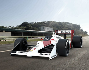 car 3D Classic Formula one McLaren