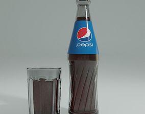 3D asset pepsi cola bottle