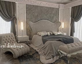 3D model PBR Neoclassical Bedroom