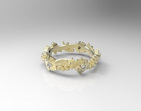 Ring with grapes 3D print model