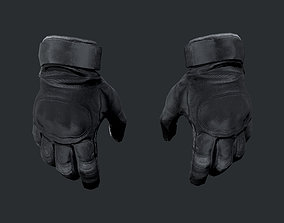3D asset Military Police SWAT Gloves Equipment Gear Game