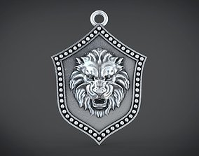 tabby 3D printable model Lion shield