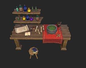 3D PBR Stylized Alchemist set