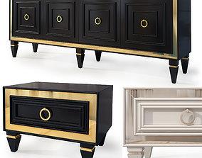 3D model Art Deco nightstand tvstand Bornova