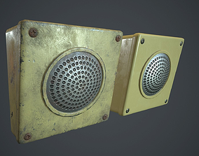 Intercom Speaker PBR Game Ready 3D model