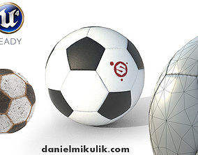 New and Old Soccer Ball PBR 3D asset game-ready