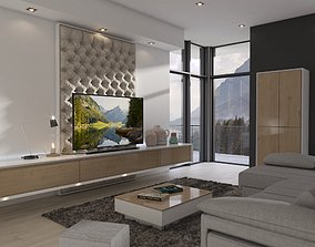 family Montain Apartment Living Room 3D model