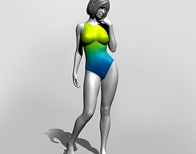 3D printable model Pretty girl in a swimsuit