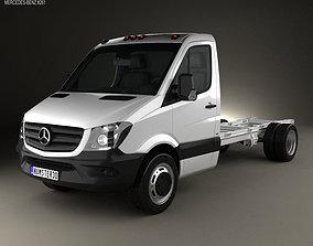 3D Mercedes-Benz Sprinter Single Cab Chassis LWB 2013