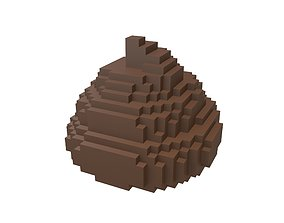 3D asset Pixel Pile of Poo v1 002