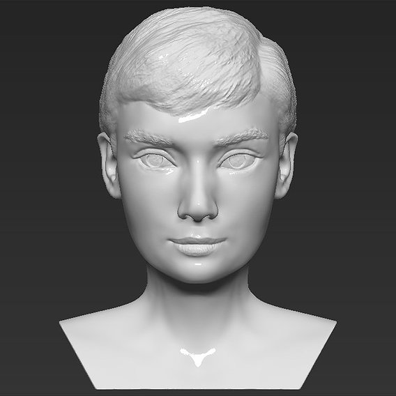 Audrey Hepburn bust for 3D printing