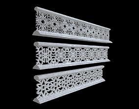 3D model Decorative railing handrail