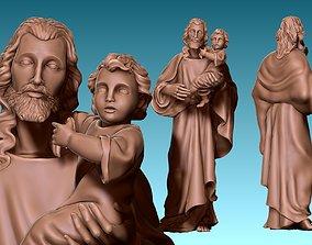 Saint Joseph and Jesus CNC ARTCAM 3D printable model 1