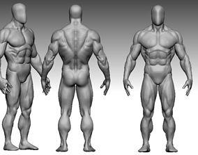 3D asset anatomy bodybuilder