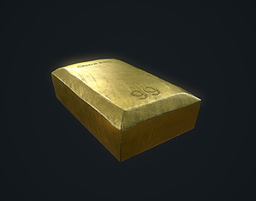 Gold Bar 3D asset realtime