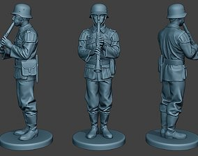 3D printable model German musician soldier ww2 Stand 1