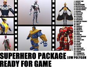 3D model Superhero Mega Collection I