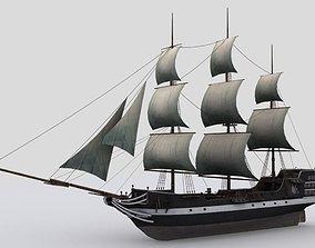Sailing ship 3D asset