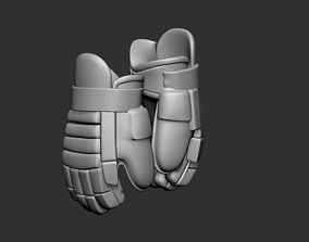 Ice Hockey Player Gloves 01 Collectible Figure 3D