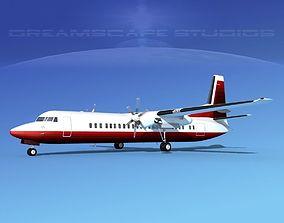 3D model Fokker F-60 Corporate 4