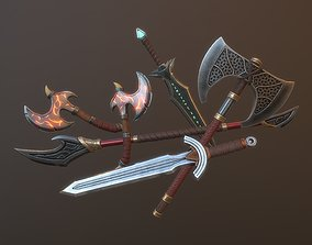 Fantasy Weapons Pack 3D asset