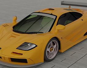 Sports car 3D model coupe