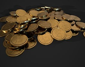3D model gold coin - english pound design A