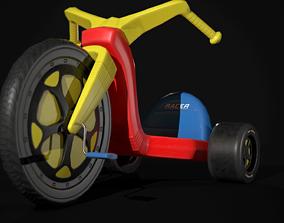 3D model Big wheel Tricycle