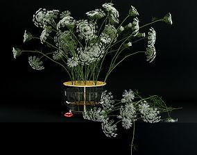 Anne lace in Ikebana vase 3D model