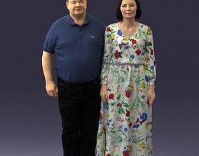 3D Elderly couple 0491