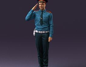 3D model soviet militsioner 1109