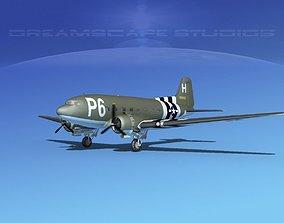 Douglas C-47 Dakota USAAF V1 3D model