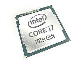 Intel CPU i7 10th Gen v1 001 3D model VR / AR ready