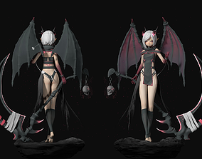 3D wings Dragon Girl
