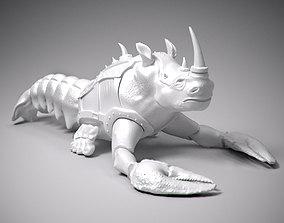 Crayfish with rhino head statue 3D printable model