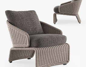 3D model MINOTTI HALLEY outdoor armchair