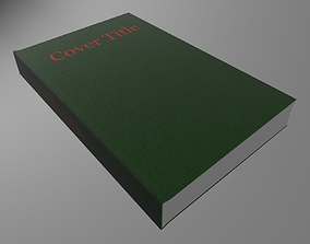 Hardcover book Green 3D model