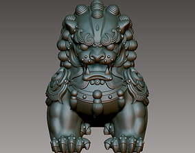 Chinese Guardian Lion 3D print model