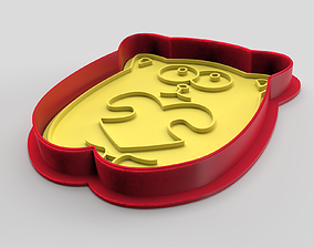 3D printable model Cookie cutter and stamp - Cat