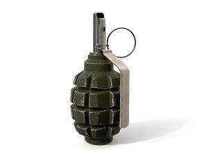 3D model F-1 grenade