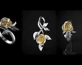 3D Rose flower