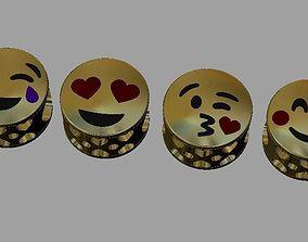 3D printable model Emoji Gold Beads