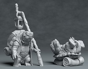 Turtle Traveller - 3D printable character